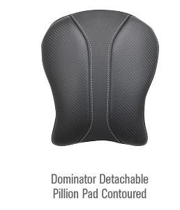 Dominator Detachable Pillion Pad Contoured
