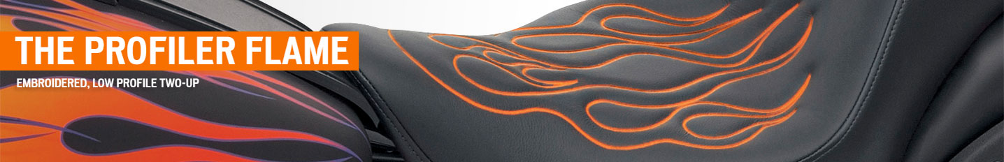 The Profiler Flame: Embroidered, Low Profile Two-Up