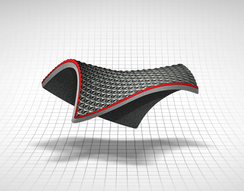 Saddlemen® Seats Cross-Section Exposing Gel-Core